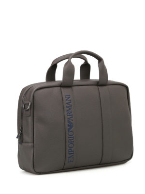 Emporio Armani Swimwear: laptop bags & briefcases online - Faux leather briefcase