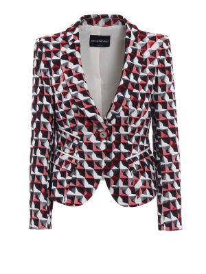 Emporio Armani Swimwear: Tailored & Dinner - Patterned fitted blazer