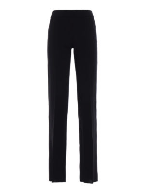 Emporio Armani Swimwear: Tailored & Formal trousers - Stretch wool straight trousers