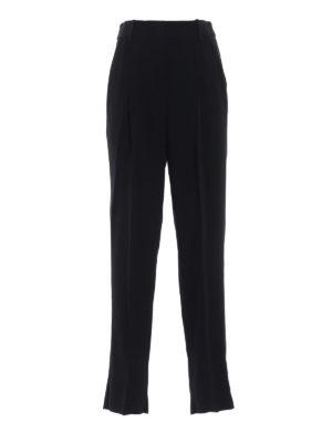 EMPORIO ARMANI: Pantaloni sartoriali - Pantaloni eleganti neri in crepe con pinces