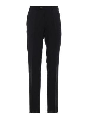 EMPORIO ARMANI: Pantaloni sartoriali - Pantaloni sartoriali in lana nera