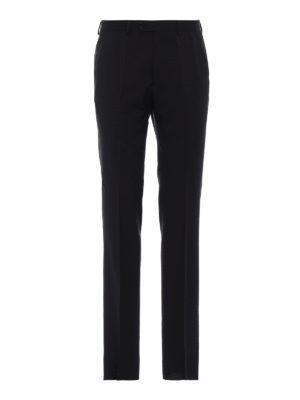 EMPORIO ARMANI: Pantaloni sartoriali - Pantaloni sartoriali in lana blu