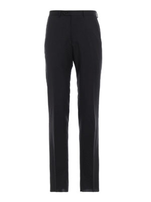 EMPORIO ARMANI: Pantaloni sartoriali - Pantaloni sartoriali in lana grigio scuro