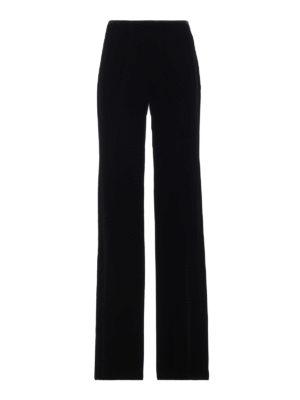 EMPORIO ARMANI: Pantaloni sartoriali - Pantaloni eleganti in velluto con gamba ampia