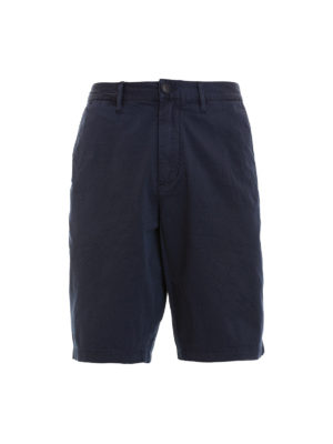 Emporio Armani: Trousers Shorts - Blue chino-style short trousers