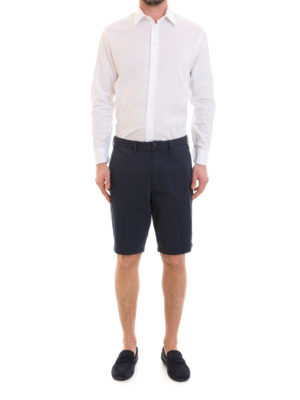 Emporio Armani: Trousers Shorts online - Blue chino-style short trousers