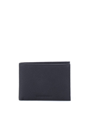 Emporio Armani: wallets & purses - Grainy leather bi-fold wallet