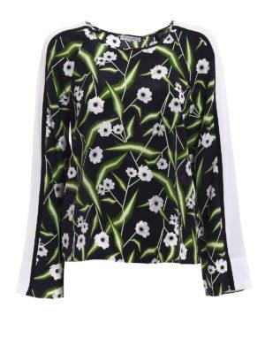 Equipment: blouses - Abeline floral pattern silk blouse