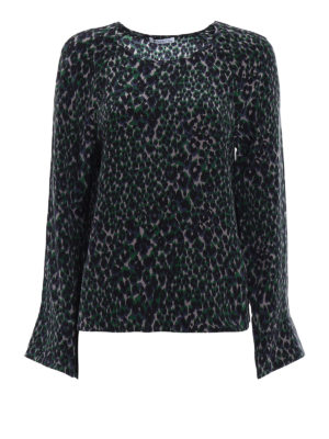 Equipment: blouses - Abeline printed silk blouse