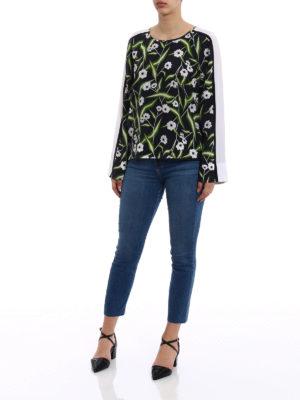Equipment: blouses online - Abeline floral pattern silk blouse
