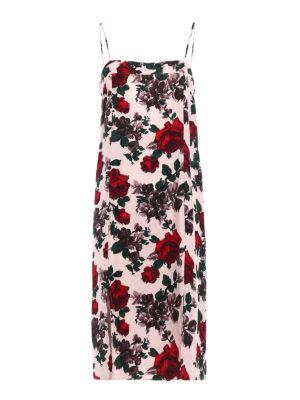Equipment: knee length dresses - Kelby floral silk slip dress