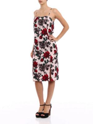 Equipment: knee length dresses online - Kelby floral silk slip dress