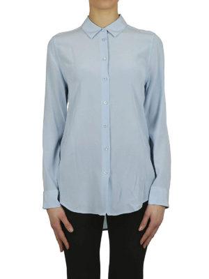 EQUIPMENT: camicie online - Camicia Essential in seta celeste
