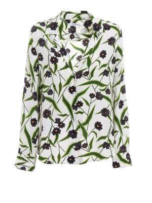 Equipment: shirts - Adalyn floral pattern silk blouse