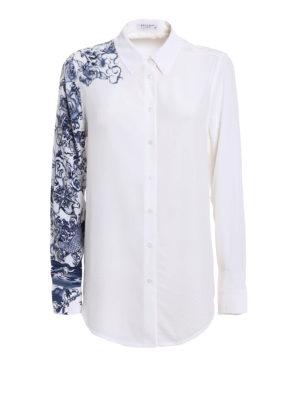 Equipment: shirts - Essential printed sleeve silk shirt