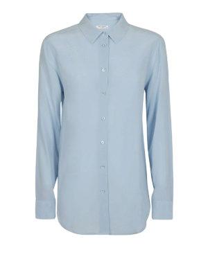 EQUIPMENT: camicie - Camicia Essential in seta celeste