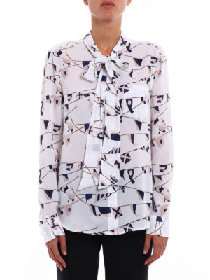 Equipment: shirts online - Brett tie neck silk crepe shirt