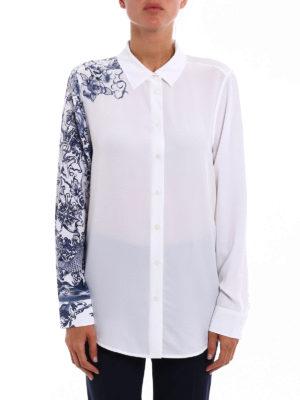 Equipment: shirts online - Essential printed sleeve silk shirt