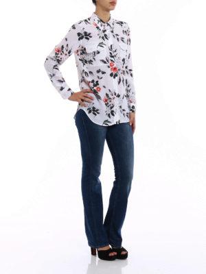 Equipment: shirts online - Slim Signature patterned silk shirt