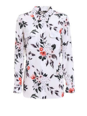 Equipment: shirts - Slim Signature patterned silk shirt