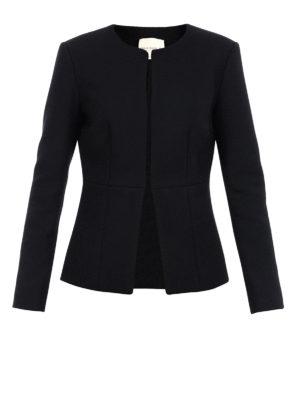 Erika Cavallini: blazers - Wool blend single-breasted blazer