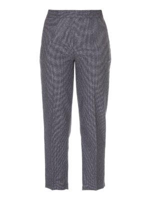 Erika Cavallini: casual trousers - Grey wool blend trousers