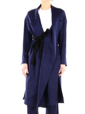 Erika Cavallini: knee length coats online - Reagan belted dust coat