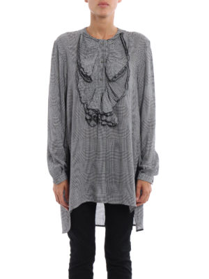 Ermanno Scervino: blouses online - Ruched Prince of Wales blouse