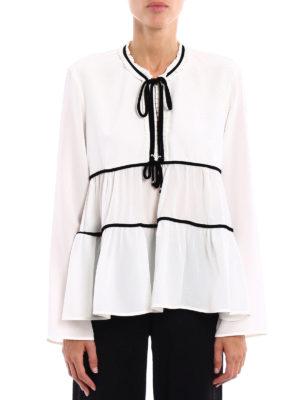 Ermanno Scervino: blouses online - Velvet ribbons silk blouse