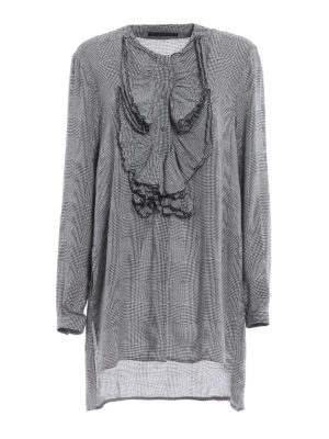 Ermanno Scervino: blouses - Ruched Prince of Wales blouse