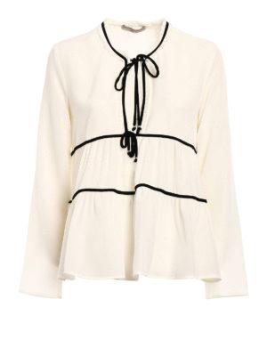 Ermanno Scervino: blouses - Velvet ribbons silk blouse