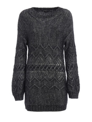 Ermanno Scervino: boat necks - Melange alpaca blend over sweater