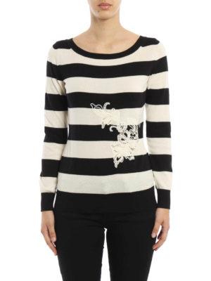 Ermanno Scervino: boat necks online - Embroidered cotton sweater