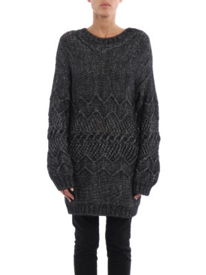 Ermanno Scervino: boat necks online - Melange alpaca blend over sweater