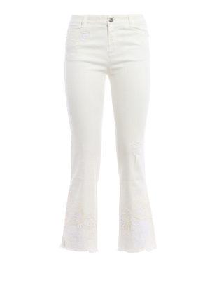 Ermanno Scervino: bootcut jeans - Embroidered five pocket jeans