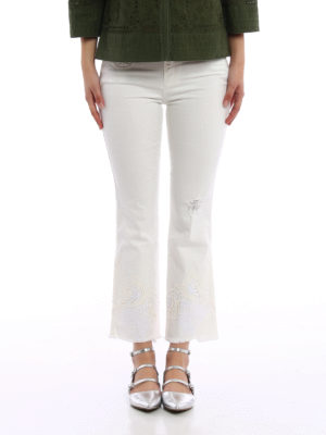 Ermanno Scervino: bootcut jeans online - Embroidered five pocket jeans