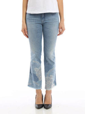 Ermanno Scervino: bootcut jeans online - Lace detailed crop jeans