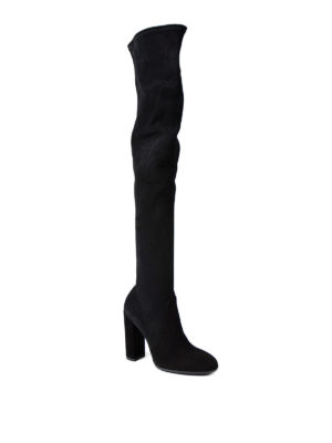 Ermanno Scervino: boots online - Over-the-knee suede boots