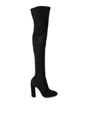 Ermanno Scervino: boots - Over-the-knee suede boots