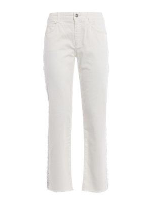 Ermanno Scervino: Boyfriend - Strass embellished boyfriend jeans