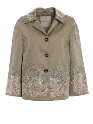 ERMANNO SCERVINO: giacche casual - Giacca in cotone e lino con pizzo