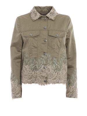 ERMANNO SCERVINO: giacche casual - Giacca in misto lino con pizzo