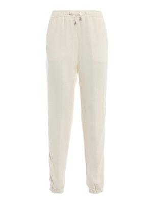 ERMANNO SCERVINO: pantaloni casual - Pantaloni misto lana con bande logo