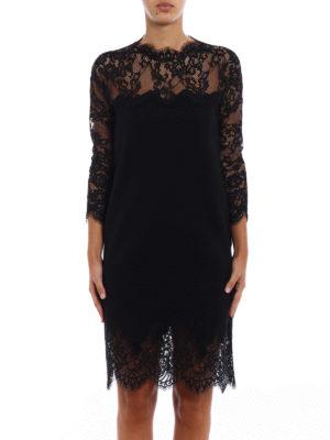 Ermanno Scervino: cocktail dresses online - Bon ton lace pashmina dress