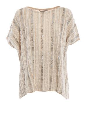 ERMANNO SCERVINO: maglia collo rotondo - Pull beige in cashmere ricamato