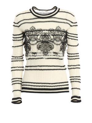 Ermanno Scervino: crew necks - Embroidered cotton crewneck