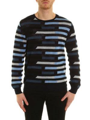 Ermanno Scervino: crew necks online - Striped cotton crewneck