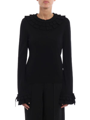 Ermanno Scervino: crew necks online - Viscose sweater with pleating