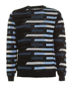 Ermanno Scervino: crew necks - Striped cotton crewneck