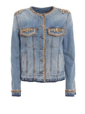 5c6ea30ce57b ERMANNO SCERVINO  giacche denim - Giacca in denim di cotone con specchietti